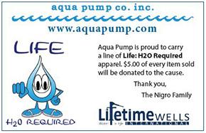 Aqua Pump Carries Life: H2O Required Apparel