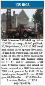 2005 Schrramm T-555 Drill Rig for Sale