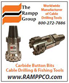 Carbide Button Bits, Cable Drilling and Fishing Tools