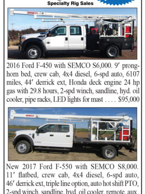 Speciality Rig Sales Has Spring Specials on SEMCO Pump Hoists