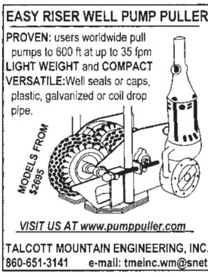 Talcott Mountain Engineering, Inc. Early Riser Pump Puller