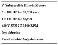 8-Inch Submersible Hitachi Motors